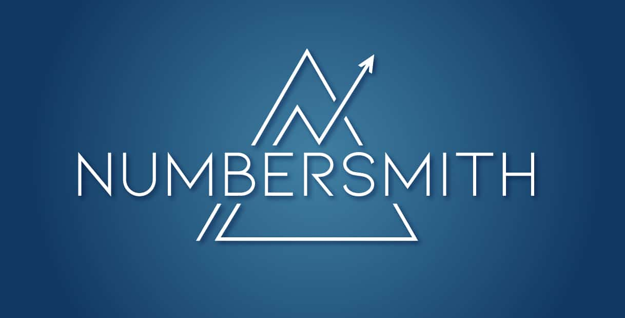 Numbersmith accountants logo-blue bckgnd